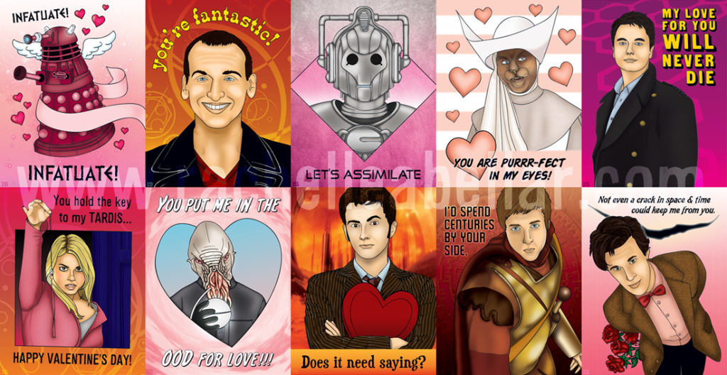 Doctor Who Valentines by Rachelle Abellar