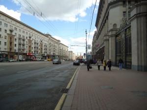 Rua de Moscou, detalhe pro tamanho dos portões a direita