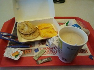 Café da manhã no McDonald's de Moscou