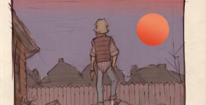 Denis-Medry-STAR-WARS-80s-High-School-Luke-Binary-Sunset