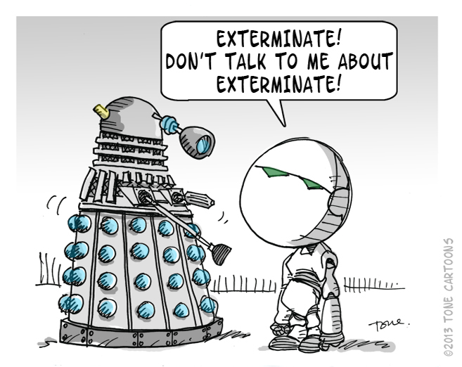 Dalek com o Marvin \o