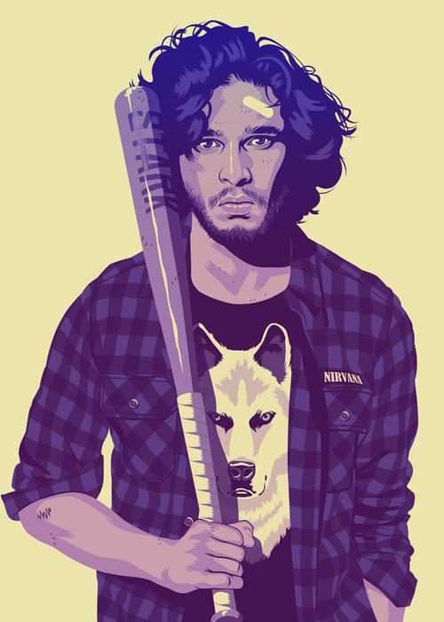 Mike-Wrobel-Game-of-Thrones-90s-Jon