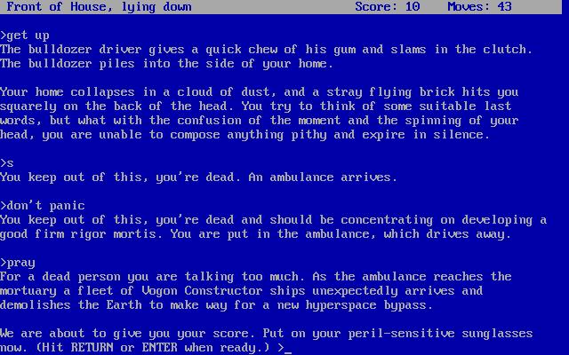 Screenshot da versão de 1984