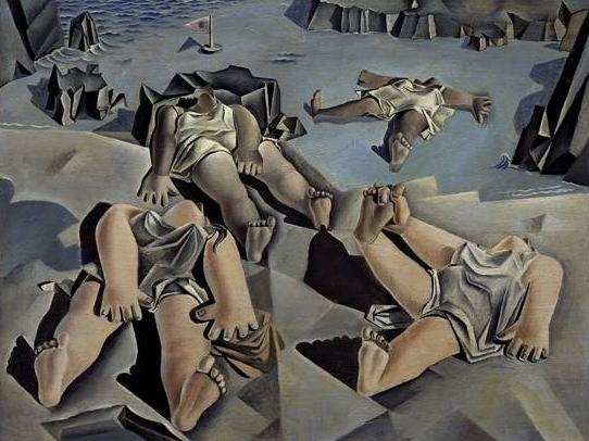 """""""Figuras tumbadas em la arena"""" – 1926"""