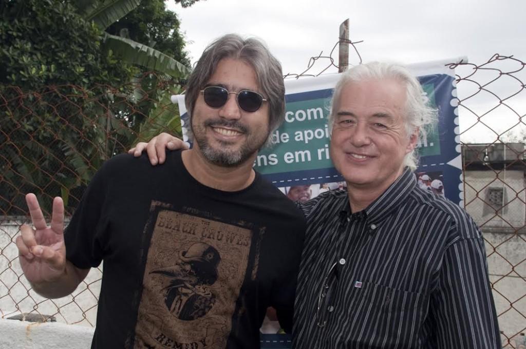 Eduardo Merçon e Jimmy Page
